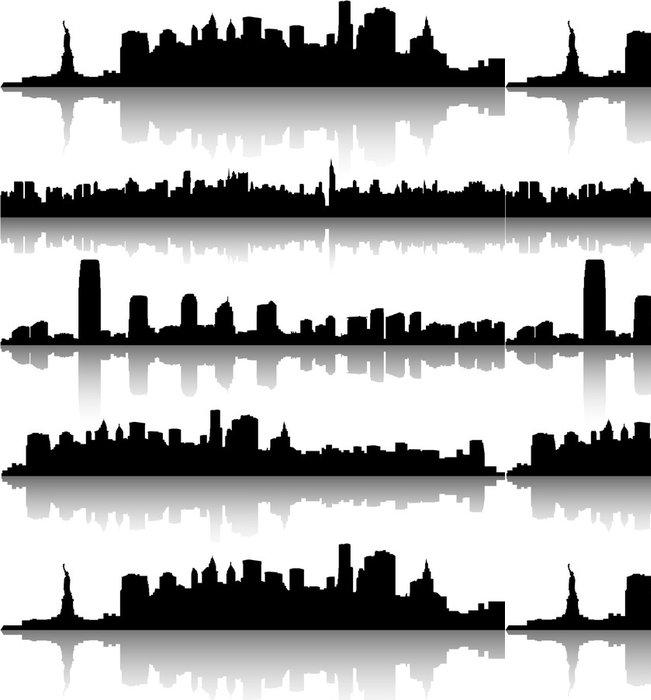 Tapeta Pixerstick New York Cityscape - Americká města