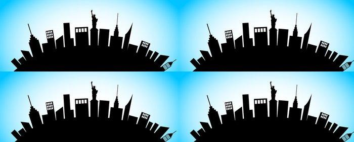 Tapeta Pixerstick New York Cty Silhouette - Americká města