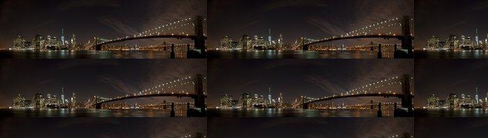 Tapeta Pixerstick New York Noční pohled Panorama - New York