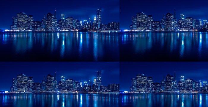 Tapeta Pixerstick New York panorama v noci - Témata