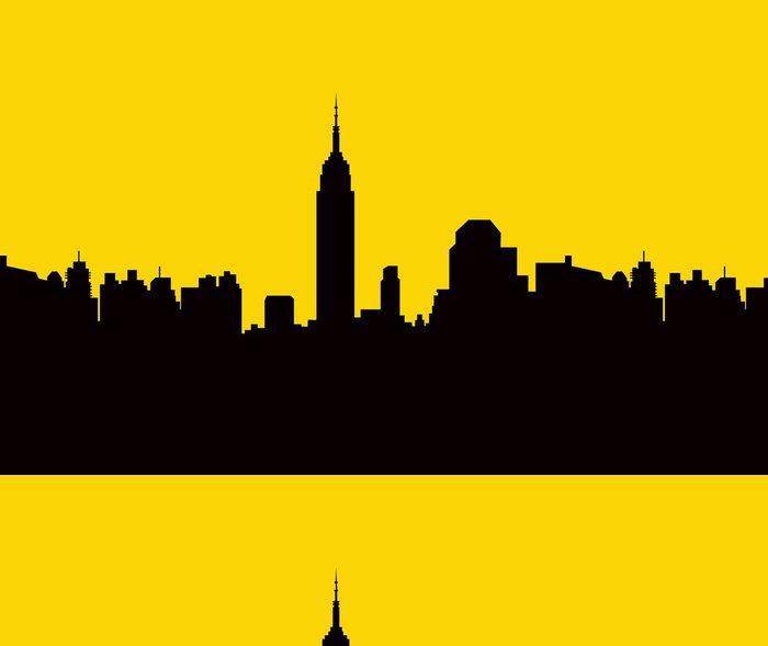 Vinylová Tapeta New york skyline na ráno - Vector - Město