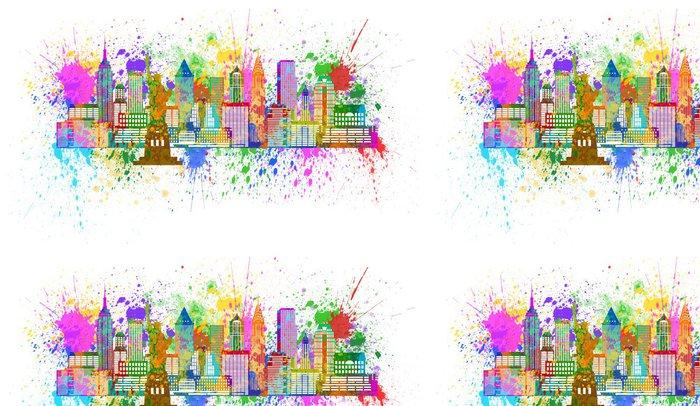 Vinylová Tapeta New York Skyline nátěru postřik Ilustrace - Nálepka na stěny