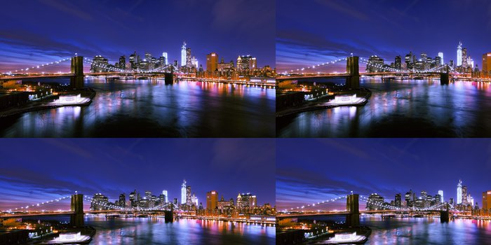 Tapeta Pixerstick New york skyline - Brooklynský Most
