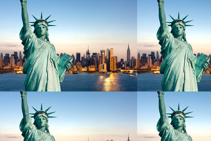 Tapeta Pixerstick New York socha Liberté - Osud