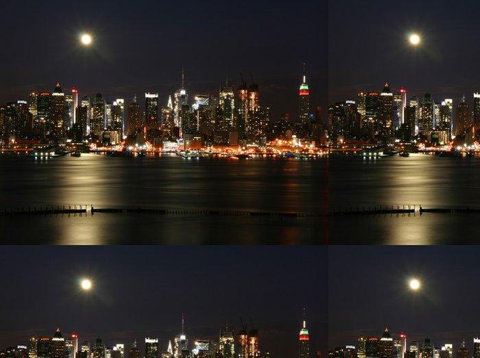 Vinylová Tapeta New York v noci - Amerika