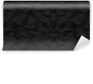 Vinylová Tapeta Nízká polygon tvary pozadí, trojúhelníky mozaiku, vektor design, kreativní pozadí, šablony designu, černé pozadí
