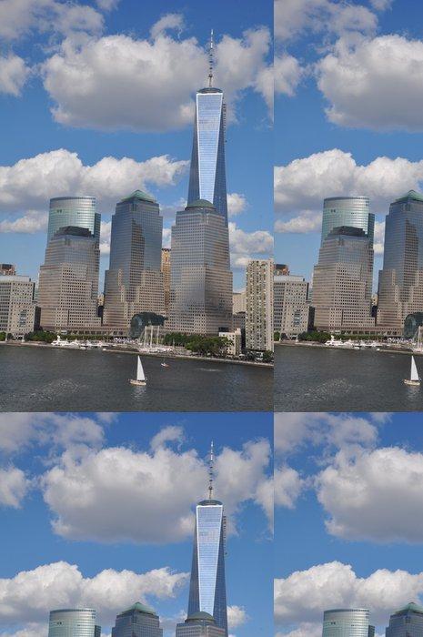 Tapeta Pixerstick Nižší Manhattan Skyline s One World Trade Center - Americká města