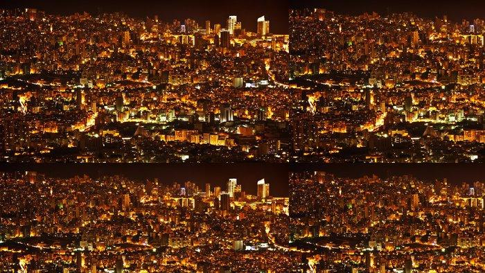 Tapeta Pixerstick Noc pozadí velkoměsto - Město