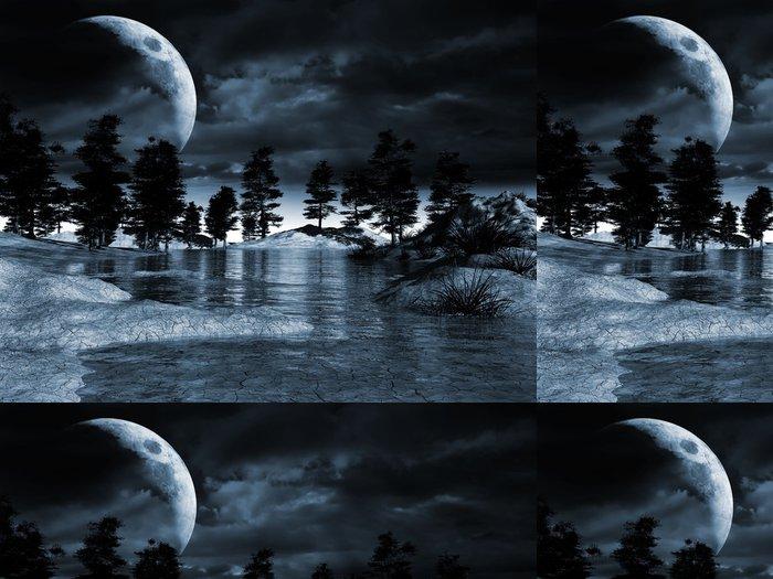 Tapeta Pixerstick Noční krajina - Venkov