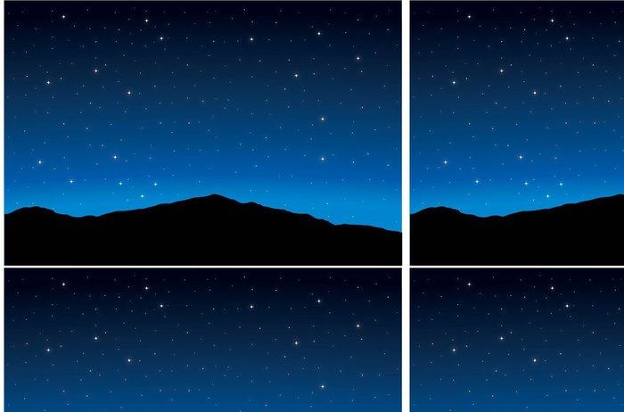 Vinylová Tapeta Noční krajina - Meziplanetární prostor