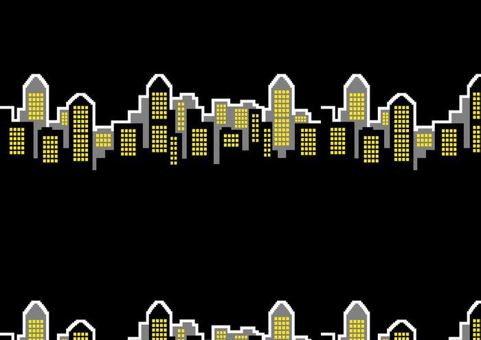 Tapeta Pixerstick Noční město - Soukromé budovy
