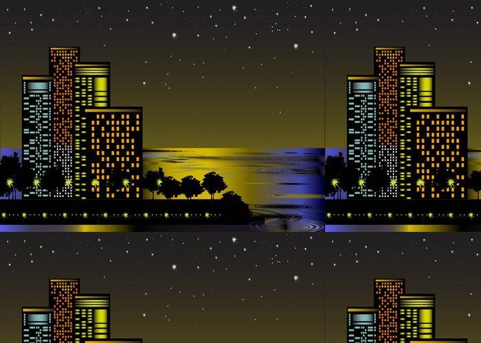 Tapeta Pixerstick Noční město - Město