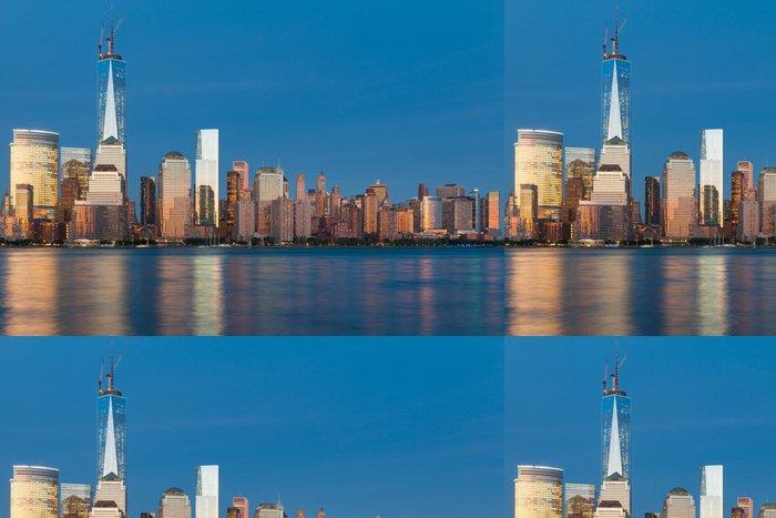 Vinylová Tapeta Noční pohled na Manhattan z řeky Hudson - Americká města