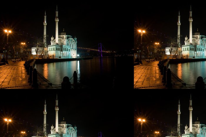 Tapeta Pixerstick Noční záběr nebo Ortakoy mešita, Istanbul - Střední Východ