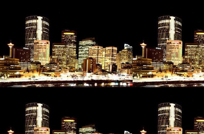 Tapeta Pixerstick Noční záběry Calgary Alberta Kanada - Jiné