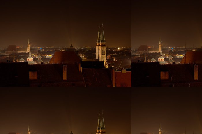 Vinylová Tapeta Norimberk v noci - Město