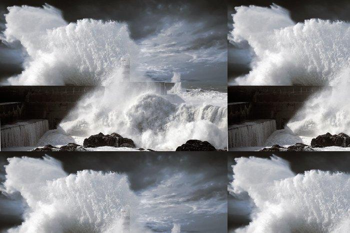 Tapeta Pixerstick North Atlantic bouřlivé vlny - Voda