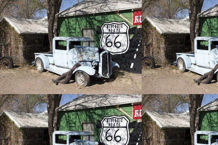 Tapeta Pixerstick Nostalgie auf der Route 66 - Amerika