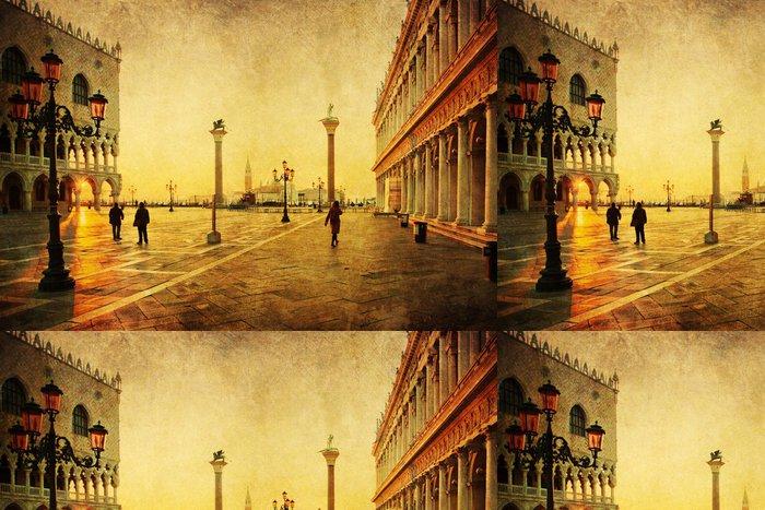 Tapeta Pixerstick Nostalgische Ansicht vom Markusplatz in Venedig - Evropská města