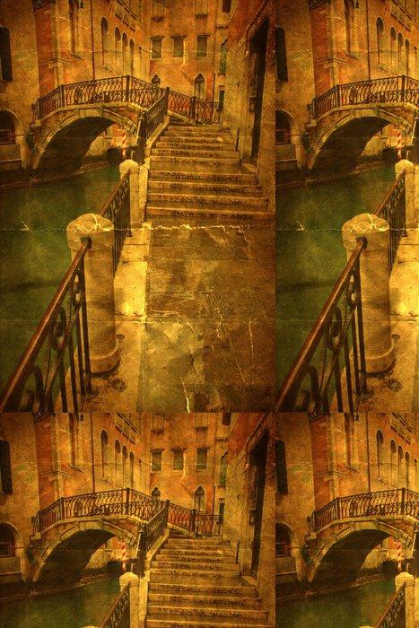 Tapeta Pixerstick Nostalgisches Bild von einem Kanal in Venedig - Evropská města