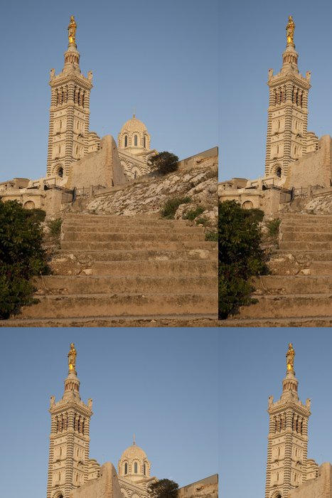 Tapeta Pixerstick Notre Dame de la Garde Church, Marseille; Francie - Evropa