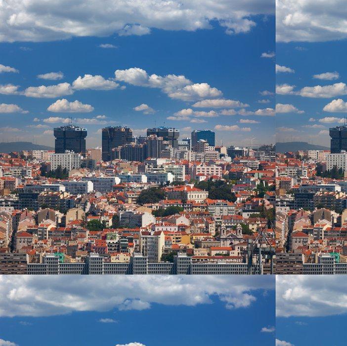 Tapeta Pixerstick Nové a Staré čtvrti Lisabonu, Portugalsko - Evropská města