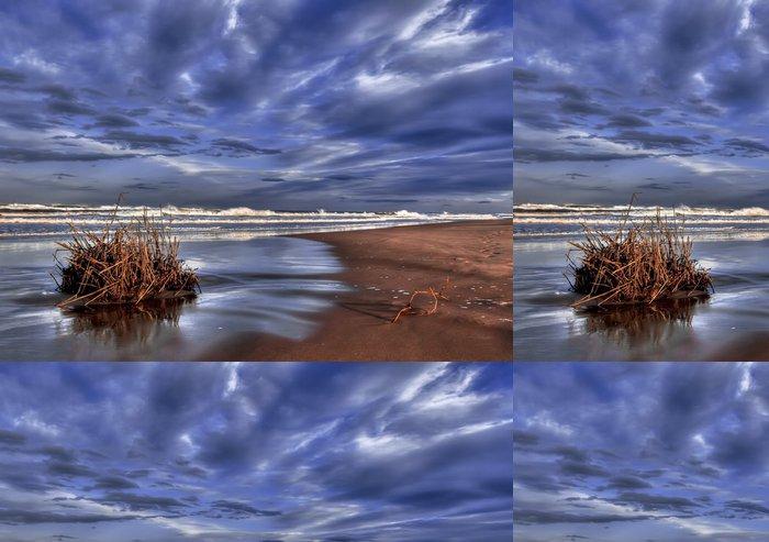 Vinylová Tapeta Nubes y playa - Voda