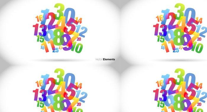 Tapeta Pixerstick Nuvola di numeri, confusione, burocrazia - Značky a symboly