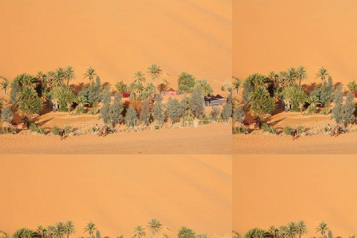 Tapeta Pixerstick Oasis v saharské poušti - Pouště