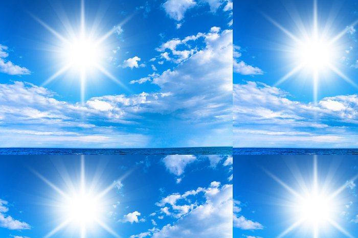Vinylová Tapeta Oblaky Divine Summer Sun - Příroda a divočina