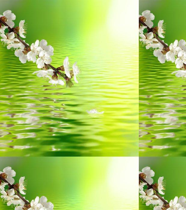 Tapeta Pixerstick Obraz Kvetoucí větve nad vodou detailní - Roční období