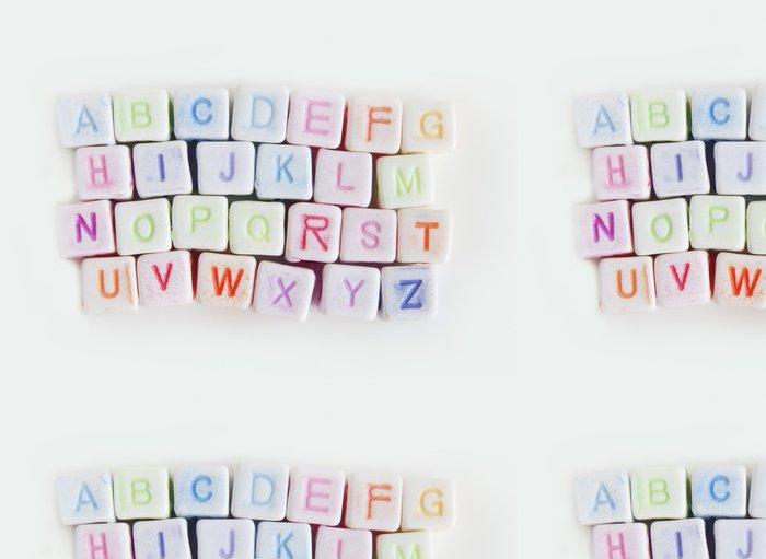 Tapeta Pixerstick Obraz různých barevných bloků s abecedou - Vzdělávání