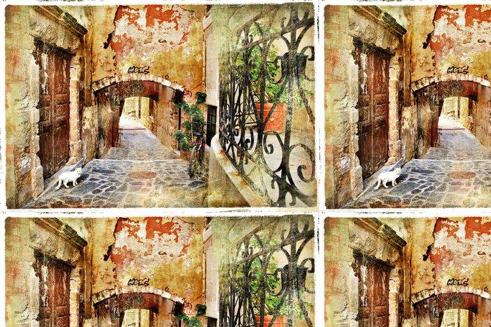 Tapeta Pixerstick Obrazová staré ulice Řecko, Kréta - Témata