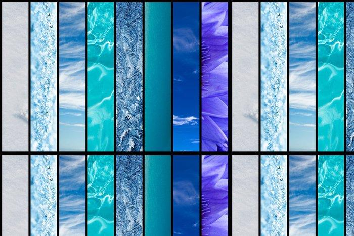 Vinylová Tapeta Odstíny modré v přírodě - Nebe
