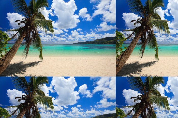 Tapeta Pixerstick Ohromující pláž v Seychely - Voda