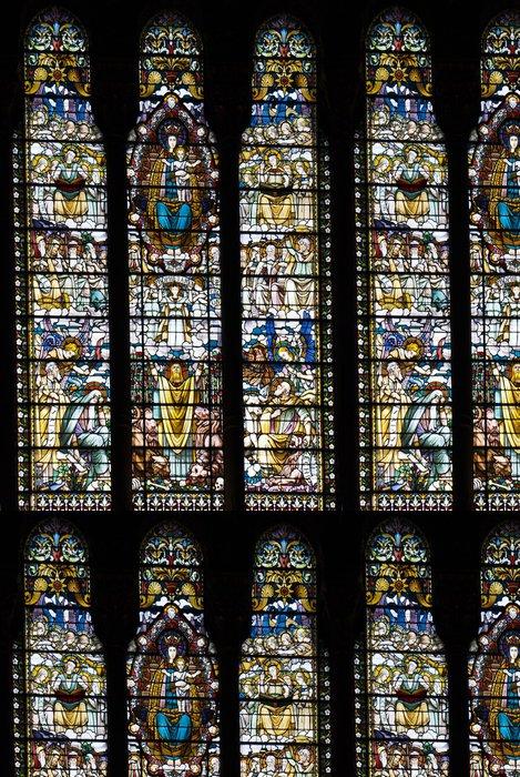 Tapeta Pixerstick Okno mozaika v bazilika Notre Dame de Fourvière, Lyon, Fr - Veřejné budovy