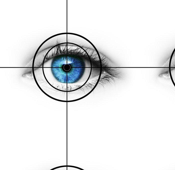 Tapeta Pixerstick Oko v hledáčku - Témata
