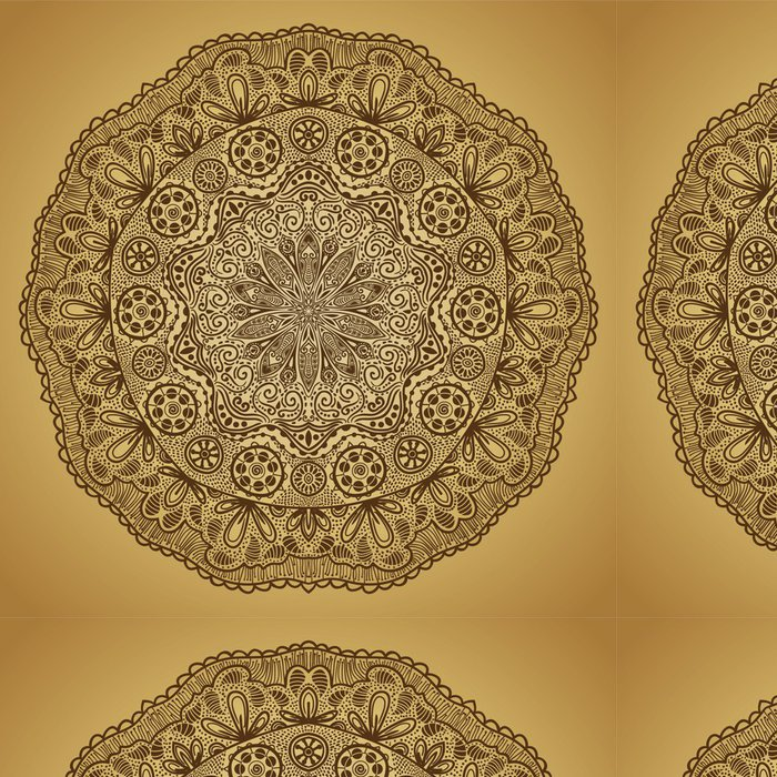 Tapeta Pixerstick Okrasné kolo krajky vzor, kruh pozadí s mnoha detai - Pozadí