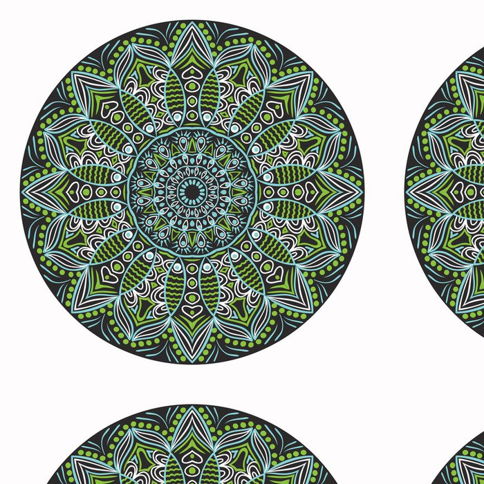 Tapeta Pixerstick Okrasné kolo krajky vzor, kruh pozadí s mnoha detai - Nálepka na stěny