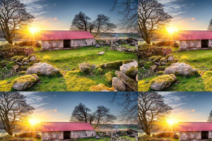 Tapeta Pixerstick Old Barn při západu slunce - Evropa