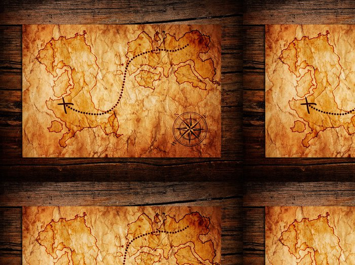 Vinylová Tapeta Old mapa pokladů - Pozadí
