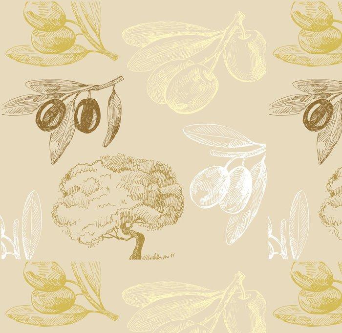 Tapeta Pixerstick Olive set - Umění a tvorba