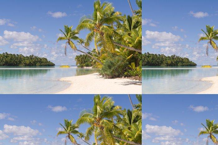 Tapeta Pixerstick One Foot Island auf Aitutaki, Cookovy ostrovy - Oceánie