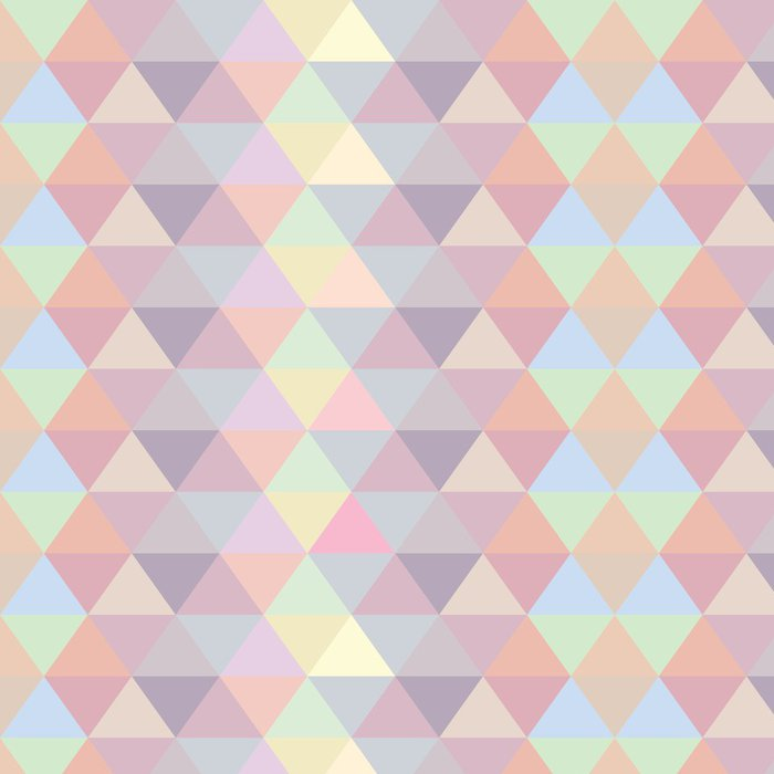Vinylová Tapeta Opakujte Vector seamless pattern Pastel trojúhelník - Témata