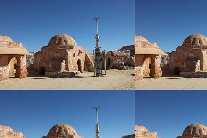 Tapeta Pixerstick Opuštěné dekorace pro natáčení Star Wars film - Afrika