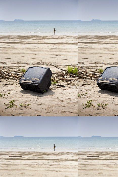 Vinylová Tapeta Opuštěné televizi na pláži - Jiné pocity