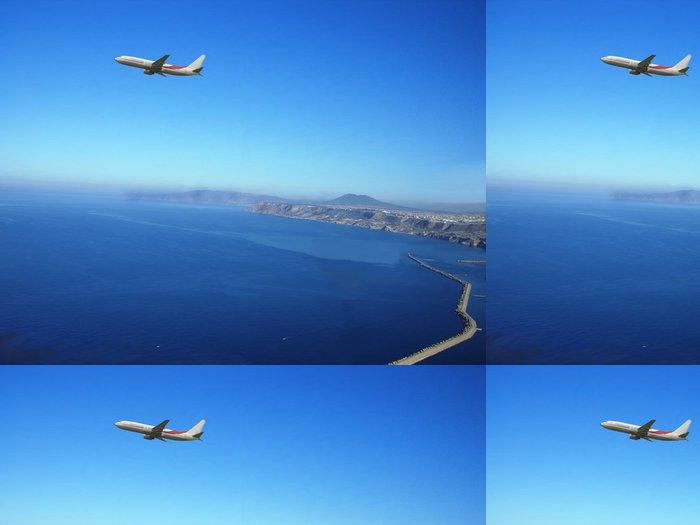 Tapeta Pixerstick Oran- algerie- avion au dessus de la baie d'Oran - Afrika