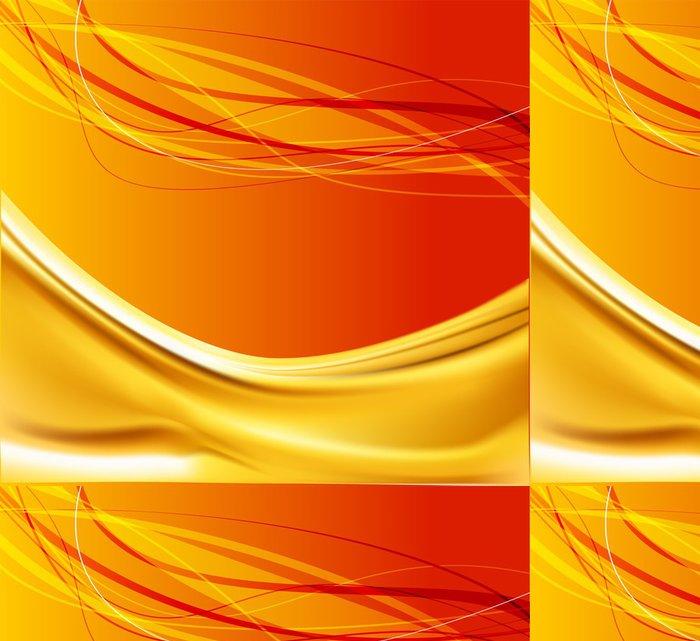 Vinylová Tapeta Oranger vlna pozadí vektor - Pozadí
