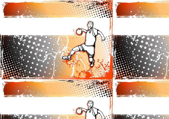 Tapeta Pixerstick Oranžová házená pozadí - Týmové sporty