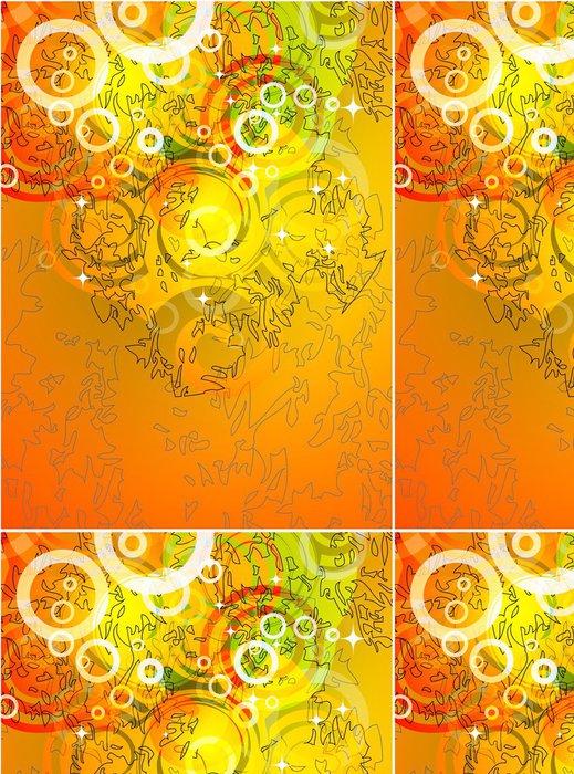 Tapeta Pixerstick Oranžové pozadí - Umění a tvorba
